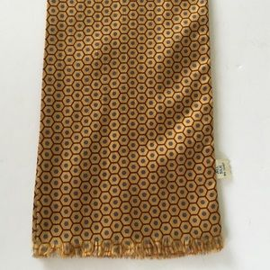 Vintage Sally Gee Silk Scarf Yellow & Gray